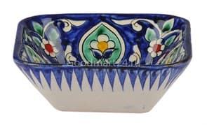 Салатница квадратная Риштанская Керамика 19 см, микс
