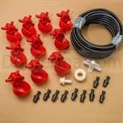 Комплект чашечных поилок для птицы «Птицепой» без бака на 100 голов