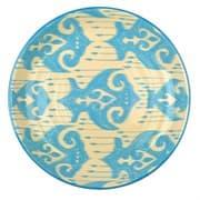 Ляган Риштанская Керамика 38 см. плоский, Синий Атлас рис. 2