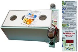 Инкубатор БЛИЦ Матрица ВЕГАС Цифровой 90 яиц, 220/12В, автомат.поворот, регулировка влажности, автодолив воды