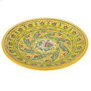 Тарелка плоская Риштанская Керамика 22 см. желтая